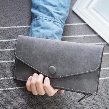 新款钱包女士多卡位薄款韩版拉链女式长款软皮手包学生潮