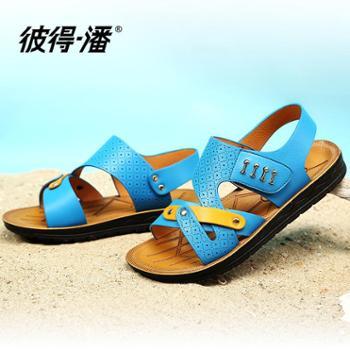 彼得潘儿童凉鞋2016夏季新款男童沙滩鞋透气儿童鞋学生休闲凉鞋