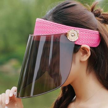 遮阳帽女士夏天太阳帽防晒帽子遮脸防紫外线电动车面罩骑车大沿檐