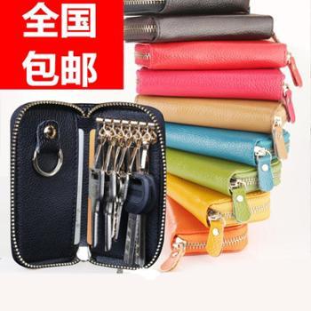 新款男士钥匙包 大容量女式多功能拉链锁匙包卡包零钱包情侣 韩国