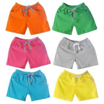 儿童短裤夏装男童女童婴儿宝宝糖果色夏季纯棉沙滩运动休闲裤子