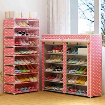 柜太太创意组装多层简易鞋架防尘鞋柜简约现代经济型收纳鞋架特价