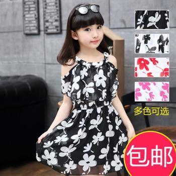 童装女童夏装新款雪纺吊带儿童连衣裙女孩韩版公主裙纱裙女孩