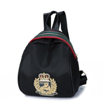 牛津布简约百搭学生小背包韩版女包包双肩包帆布单肩包