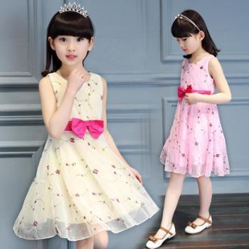 女童连衣裙夏装童装儿童小女孩韩版蕾丝女宝宝公主裙纱裙子