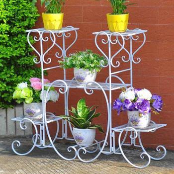 铁艺花架落地式花盆架多层室内外欧式花架客厅阳台绿萝花架子