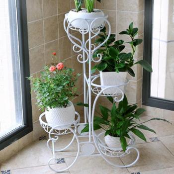 花架阳台客厅铁艺多层地面多肉花盆架室内植物架吊兰绿萝花架子