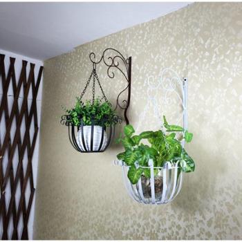 欧式铁艺壁挂花盆架绿萝壁挂花架挂墙墙上室内阳台悬挂吊兰花架