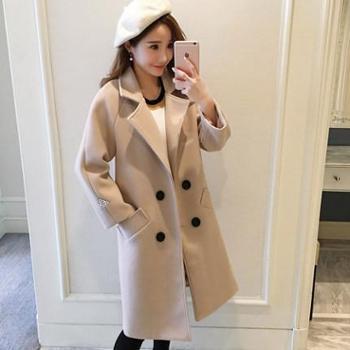 呢子大衣女中长款韩版新款秋冬装森系学生毛呢外套女加厚流行