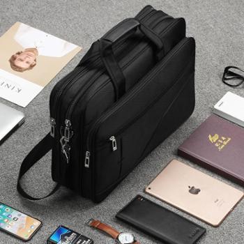 牛津布公文包男商务男士包包手提包手拿帆布新款大容量电脑包