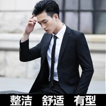 杰诺仕西服套装男士外套上衣青年韩版修身春季商务休闲正装单西小西装男