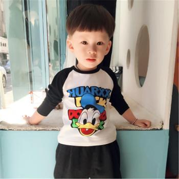 泰迪猪春装儿童长袖T恤男童装宝宝上衣女童打底衫纯棉夏装体恤短袖