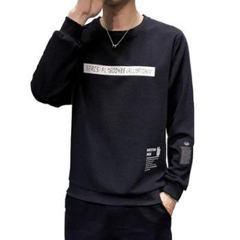 长袖t恤男上衣体恤潮流潮牌衣服打底衫卫衣KXPY114