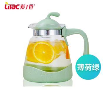 紫丁香耐热冷水壶玻璃果汁壶大容量茶壶凉白开水壶家用凉水壶