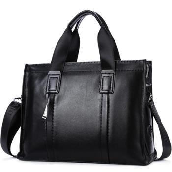 卓梵阿玛尼男包男士手提包单肩包公文包商务包大容量斜挎包电脑包