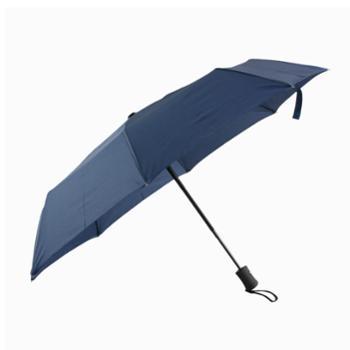 纯色8骨全自动伞素色三折折叠伞晴雨两用伞
