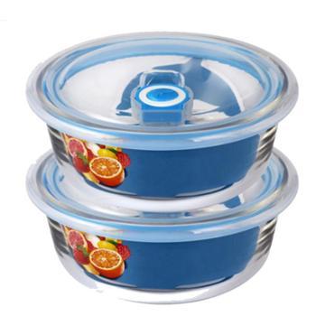 喀斯特630ml+630ml耐热保鲜碗两件套水果盒保鲜碗家用饭盒