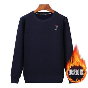 Aeroline冬新款T恤长袖休闲厚款宽松保暖套头卫衣