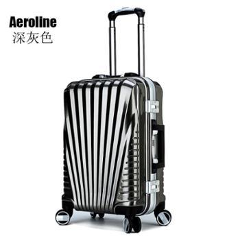 Aeroline新款新料铝框万向轮拉杆箱托运箱套2组合22寸+26寸