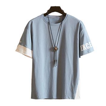 Aeroline夏季男圆领短袖薄款纯棉T恤打底衫