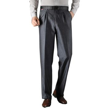 Aeroline西裤男夏款薄款中年直筒舒适有摺长裤