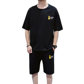 Aeroline夏季帅气休闲短袖夏天男装短裤套装