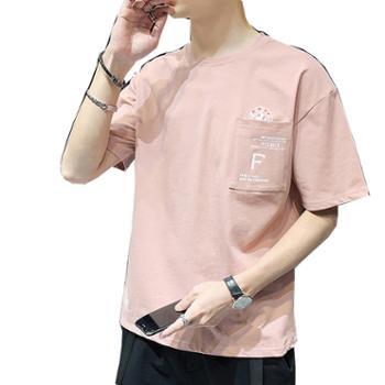 Aeroline夏季圆领男装宽松短袖t恤半袖薄款上衣