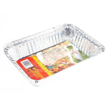 尚烤佳锡纸铝箔盘烧烤烘焙铝箔盒烧烤盘烤肉盘五只装