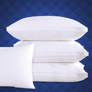全棉酒店枕头枕芯可水洗单人羽丝绒成人护颈椎软枕 1只装