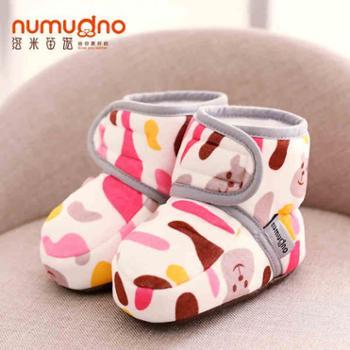 婴儿鞋0-1岁软底男女宝宝学步鞋3-6-12月春秋冬新生儿步前鞋加绒
