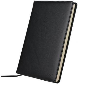 得力7901商务办公记事笔记皮革皮面本通用笔记本简约复古