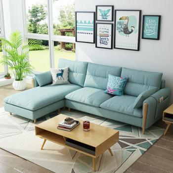 布艺沙发北欧风格客厅布艺沙发现代简约整装小户型三人懒沙发经济型组合家具