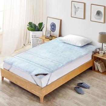 床上用品单人床涂料印花纤维床褥-菁悦可折叠学生床垫
