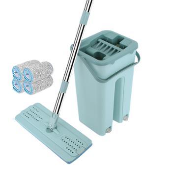 生活用品 刮刮乐 网红拖把 免手洗 迷你款 桶+杆+4拖布