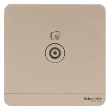 施耐德(Schneider)开关插座有线电视插座绎尚系列薄暮金色