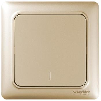 施耐德(Schneider)开关插座开关面板一开单控开关睿意系列金色