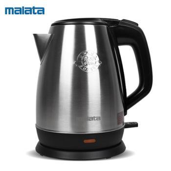 Malata万利达 WLD-1818 304食品级不锈钢 1.8L电热水壶 双层保温防烫自动断电不锈钢水壶
