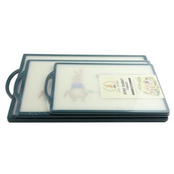 韩国菜板兔家族菜板防滑砧板椭圆形长方形菜板厨房工具