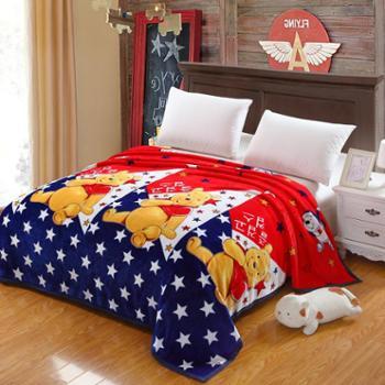 天迪TANDY礼品毛毯加厚珊瑚绒毯子法莱绒法兰绒床单秋冬双面云貂绒毯