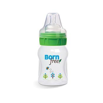 美国BornFree自然哺育图案塑料奶瓶新生儿防胀气宽口径奶瓶160ml/50z光彩全球
