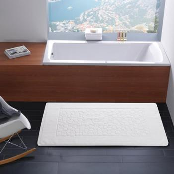 oukk欧康家纺 酒店白色地巾 纯棉加厚地垫 吸水浴室地巾全棉门垫卫生间脚垫宾馆