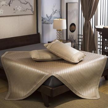 oukk欧康家纺巴比伦夏季凉席圆角冰藤席三件套床席双面空调席可折叠