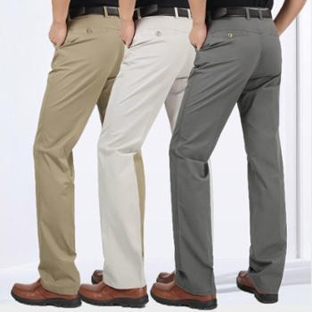 大江大河G-RIVER大裆深裆宽裆大裤脚宽松直筒透气全棉商务休闲裤子男式长裤爸爸装