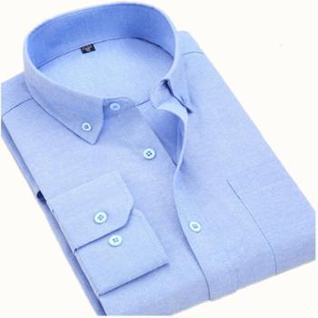 大江大河G-RIVER宽松直筒大码男装纯色牛津纺衬衫男式长袖衬衣净面糖果色爸爸装