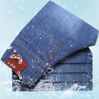 大江大河G-RIVER薄款透气棉质直筒牛仔裤男式休闲裤五袋裤子夏季长裤