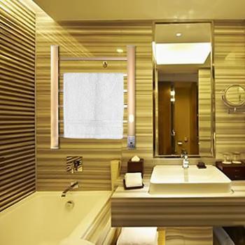 斯科馨电加热恒温墙装毛巾架浴巾架烘干架标准型带自感应灯款