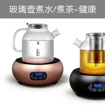 茶艺师T1525小型触摸电陶炉茶炉静音家用泡茶迷你玻璃壶光波套装