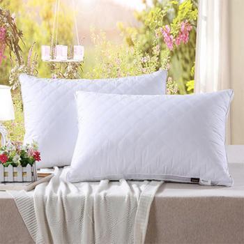 【鎏金蚕】正品柔软舒适双边羽丝绒枕芯成人单人枕芯护颈枕单个装包邮