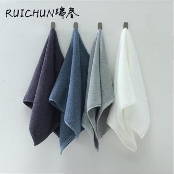 RUICHUN四条装纯棉毛巾组合套装