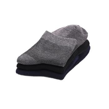 10双装男士网眼中筒袜纯色透气棉袜